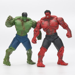 """Red Hulk Figures Canada - 10"""" Red and green Hulk Action Figure The Avengers PVC Figure Toy Hands Adjusted Movie Lovers Collection"""