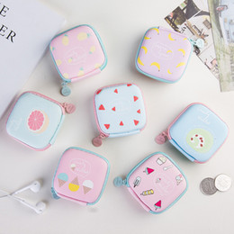 $enCountryForm.capitalKeyWord Australia - 100pcs lot Women Coin Purse Cartoon Cute Headset Bag Small Change Purse Wallet Pouch Bag for Kids Gift Coin Storage
