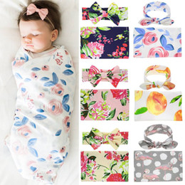 $enCountryForm.capitalKeyWord Australia - Baby Newborn Photography Props Blanket Cloth Towels Wrap Baby Girls Hair Accessories Headband 2PCS Outfits Flower Swaddling