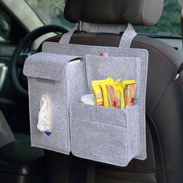 $enCountryForm.capitalKeyWord Australia - Car Seat Back Organizer Hanging Bag Woolen Felt Storage Pocket Pouch Bin Stroller Bag Tissue Box Case Cellphone