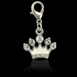 $enCountryForm.capitalKeyWord Australia - Sparkling Cartoon Enamels Crown Icon Charm Gifts With Fits Necklace Diy Fine Jewelry Accessories