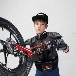 $enCountryForm.capitalKeyWord Australia - WOSAWE Kids Sleeveless Chest Protector Back Spine Support Kids Body Protect Gear For Dirt Bike Motocross Scooter Snowboarding