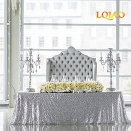 Rectangle Wedding Table Cloth Australia - 14 Colors 225cmx330cm Glitter Silver 90x132 Inches Wedding Tablecloth Decoration Rectangle Sequin Table Cloth Q190603
