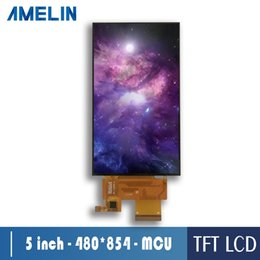 tft touch module UK - 5 inch 480*854 IPS tft lcd module screen with MCU interface display and CTP touch panel