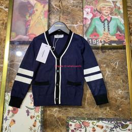 $enCountryForm.capitalKeyWord Australia - Boy sweater kids designer clothing autumn new cotton knit fabric sweater cardigan design sweater material soft and comfortable