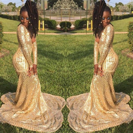 custom made elie saab dresses Australia - 2020 Elie Saab Gold Sequin Long Sleeve Evening Gowns Cheap New Reflective Prom Dress Custom Made Celebrity Gowns BC3675