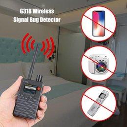 Vente en gros Détecteur de signal sans fil 1 MHz - 8 000 MHz Radio Wave WiFi Détecteur de bogues Caméra Détecteur RF pleine gamme G318