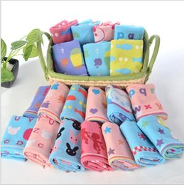 gauze towels NZ - Free Wholesale Delivery Cotton three-layer gauze towels sold directly by Gaoyang Cotton Factory Cartoon baby wash towels