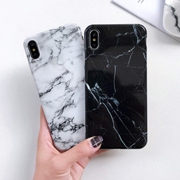 brown black pink iphone Australia - Marble Glossy Phone Case for iPhone 6 s 6S Plus Classic White Pink Soft Cover for iPhone X 7 7 Plus 8 8 Plus Cases Shell