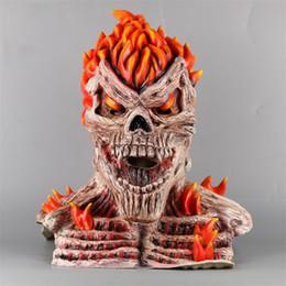$enCountryForm.capitalKeyWord Australia - Ghost Rider Cosplay Face Masks Superhero Skull Skeleton Red Flame Fire Man Creepy Full Head Adult Props Party Halloween