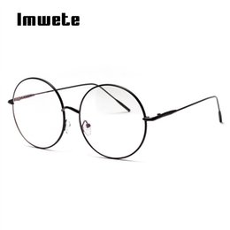 dfbc97a9fda Oversized Round Eyeglasses Australia - Imwete Round Oversized Glasses Frame Women  Men Retro Brand Transparent Metal