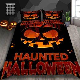 twins for sale UK - Halloween Gifts Bedding Set For Kids Pumpkin Print 3D Duvet Cover Hot Sale King Queen Double Full Twin Single Bed Cover with Pillowcase