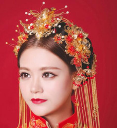 $enCountryForm.capitalKeyWord Australia - Bride Jewelry Ancient Wedding Phoenix Crown Chinese Wedding Headdress Xiuhe Dress Qipao Longfeng Dress Salute Dress Accessories