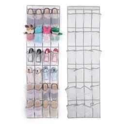 Grid racks online shopping - 24 Grid Non woven Shoe Bag Door Rack Shoe Storage Sundries Hanging Organizer Foldable Storage Bags cm SSA202
