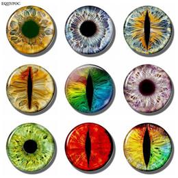 Fantasy pieces online shopping - Fantasy Colored Eye Art MM Fridge Magnet Magic Glass Cabochon Note Holder Magnetic Refrigerator Stickers Fridge Decor