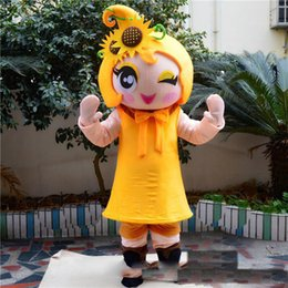 Wholesale mascot costume sun for sale – halloween 2019 Factory direct sale Pretty Sun flower girl Mascot Costume