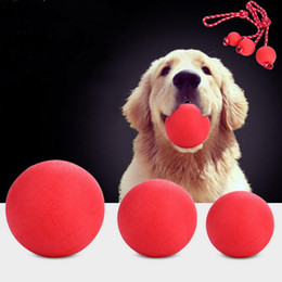 $enCountryForm.capitalKeyWord NZ - Pet rubber bouncy ball Indestructible Solid Rubber Ball Pet Dog Toy Training Chew Play Fetch Bite Toys