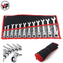 $enCountryForm.capitalKeyWord Australia - 12pcs Ratchet Wrench Set For Car Repair Tools Combination Gear Nut Wrench Box End Spanner Auto Repair Hand Tools Set 8-19mm