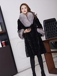 fur coat mink shipping Canada - Free Shipping New Genuine Mink Fur Jacket Long Real Mink Fur Coat Lady's Real Fur Garment Wholesale Retail OEM SH190930