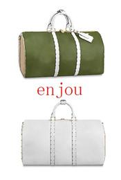 $enCountryForm.capitalKeyWord UK - New Fashion Duffel Bag Keepall 50 Famous Designer Luggage Genuine Leather Letter Check Luxury Duffel Bagsdc2e#