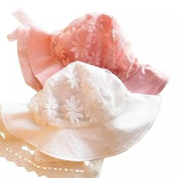 $enCountryForm.capitalKeyWord UK - Ocean gas explosionKorean baby sunshade spring summer thin femalepure cute cotton lace hat princess sun children fisherman