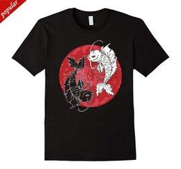 2018 Koop Hot 100% Katoen Yin Yang T-Shirt, T Koi Karper Tai Chi Symbool Japanse Tee Zomer Stijl Camiseta venda por atacado