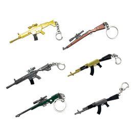 Man Hot Chain Model Australia - Hot Game CS GO Weapon Key Chain Mini Simulation Weapon Model Keychain Sniper Gun Model Rifles Toys Men Gifts