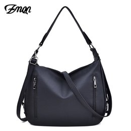 $enCountryForm.capitalKeyWord Australia - ZMQN Bag Women's Hobos Black Handbags For Women Leather Shoulder Bags 2 Zippers Classic Style Ladies Hand Bags Crossbody A816