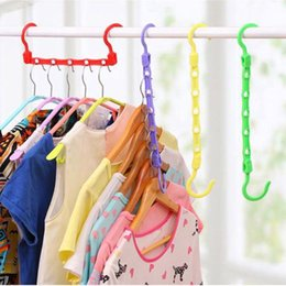 Hanger Clothes Save Space Australia - Color Random Cloth 1pc 5 Hole Wardrobe Hanger Storage Plastic Clothes Hanging Hook Organizer Space Saving Color Random Cloth Hanger 1pc