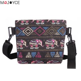 034eb09b8706 Ethnic Elephant Print Shoulder Bag for Women National Pattern Handbags  Canvas Messenger Crossbody Bags bolsa feminina