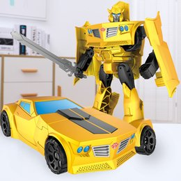 $enCountryForm.capitalKeyWord Australia - Alloy Transformed Toy Diamond 5 Bumblebee Auto Robot Model Genuine Children and Boys