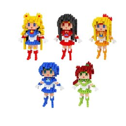 China Mini Figures Blocks LOZ Diamond Bricks Building Blocks Set Sailor Moon Toys Diamond Blocks Educational Toys Gift for Girls suppliers