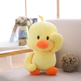 duck birthday party decorations Australia - Cotton Small Yellow Duck Figurine Figurine Elastic Bubble Cloth Fabric Child comfort doll Birthday Party Home Decoration