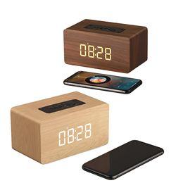Type clocks online shopping - Wooden Clock type Bluetooth Speaker Wireless Retro Bluetooth Speaker D