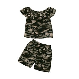 Best Clothes Sales Australia - Best Sale 2019 Kids Summer Clothes Fashion Toddler Kids Baby Boys Camouflage Short Sleeve T shirt Tops+Short Outfits Clothes Set