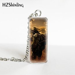 stainless games Australia - HZSHINLING New Arrival Stalker Game Rectangle Stainless Steel Glass Pendants Silver Fashion Jewelry