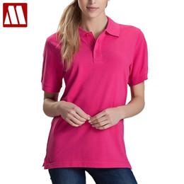 Polo Red White Blue Australia - Women Men Unisex Cotton Plain Solid Black Blue Navy Red Polo Shirt Ladies Short Sleeve No Printing Polo Shirt S-3xl Shirts Tops Q190428
