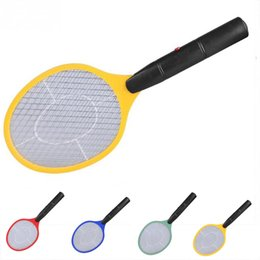 triple handle Australia - Triple Nets House Fly Swatter Electric Pest Repeller Bug Zapper Racket Wireless Long Handle
