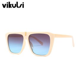 fdb8865a31 Chic Oversized Square Sunglasses Men 2019 New Trendy Brand Designer Sun Glasses  Women Fashion Acetate Frame Shades Eyewear UV400