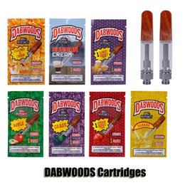 DABWOODS Carts 0.8ml 1.0ml TH105 TH205 Ceramic Coil Wood Drip Tip 510 Thick Oil Cartridge Vape Tank Watermelon Pineapple 9 Flavors from smy atomizer manufacturers