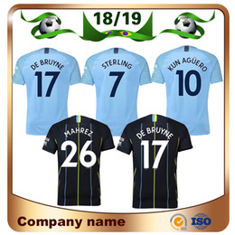 f4d95a5af 18 19 Man #10 AGUERO Soccer Jersey 2019 home City KOMPANY BRUYNE SILVA  TOUREYAYA JESUS SANE AWAY Football shirt Uniform sales