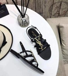 $enCountryForm.capitalKeyWord Australia - ysl Brand new Sexy shoes Woman Summer Buckle Strap bamboo joint Sandals ysl Flat shoes Pointed toe Fashion Shoes