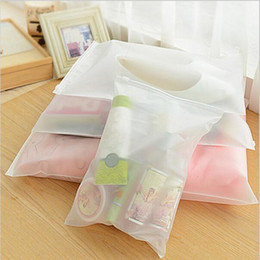 wholesalers for door gift bag UK - Travelling Storage Bag Frosted Thick Plastic Reclosable Zipper Bag Seal Plastic Packaging Bags for Gift Clothes Jewelry