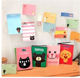animal mini notepads NZ - Notes Notepads Hot 180 Pages Sticker Mini Animal Sticky Notes 4 Folding Memo Pad School Stationery