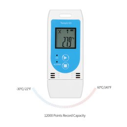 Digital Temp Meter Australia - USB Temperature Data Logger Reusable RH TEMP Digital Temperature Sensor Termometro Recorder Humidity Recording Meter