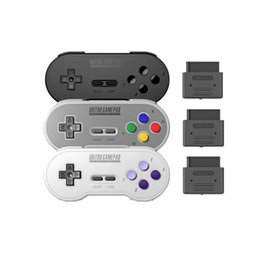Wireless Joystick Controller Australia - 8Bitdo SN30 Wireless Gamepad Bluetooth Game Controller With Retro Set For Nintendo SNES SF-C Switch Game Joystick Game Console