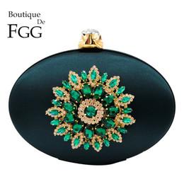 $enCountryForm.capitalKeyWord Australia - Boutique De Fgg Women's Fashion Flower Crystal Clutch Handbag And Purse Ladies Evening Bags Wedding Party Chain Shoulder Bag Y190626