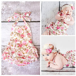 Boutique Girl Shoes Australia - HOT SALE!!! Floral baby lace romper for toddler headband shoe set;ropa bebe boutique infant summer clothes;newborn baby girl clothes 2sets