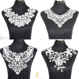 blouses necklines Australia - 1Pcs White Fine Venise Lace Fabric Dress Applique Blouse Sewing Trims DIY Neckline Collar Costume Decoration Accessories