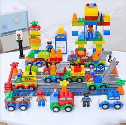 Wholesale DHL Building Blocks Plastic Digital Box digital train car kids toys Children s toy bricks Educational Intelligence Safe Environmental
